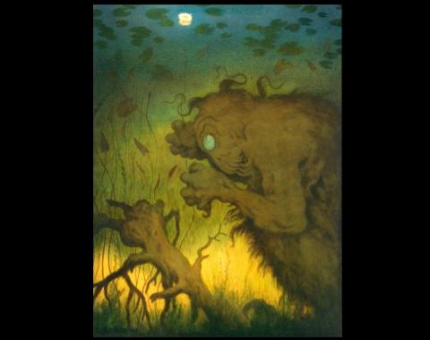 «Nøkken som fisker», 1912.