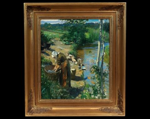 «Vaskekone ved elven», 1888.