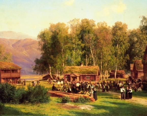 Bryllupsfest på Rudningen gård