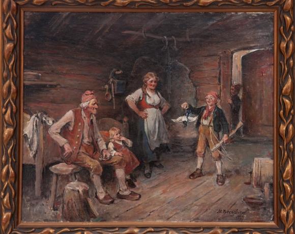 Nils Bergslien, Den fyrste fangsten