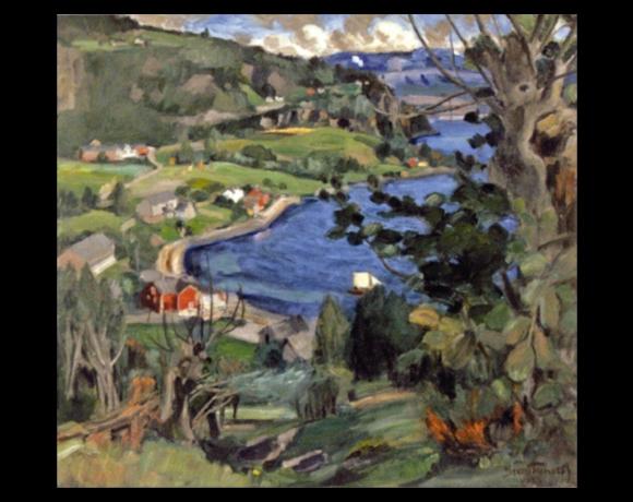 Fra Laupsa, Nordheimsund, 1922