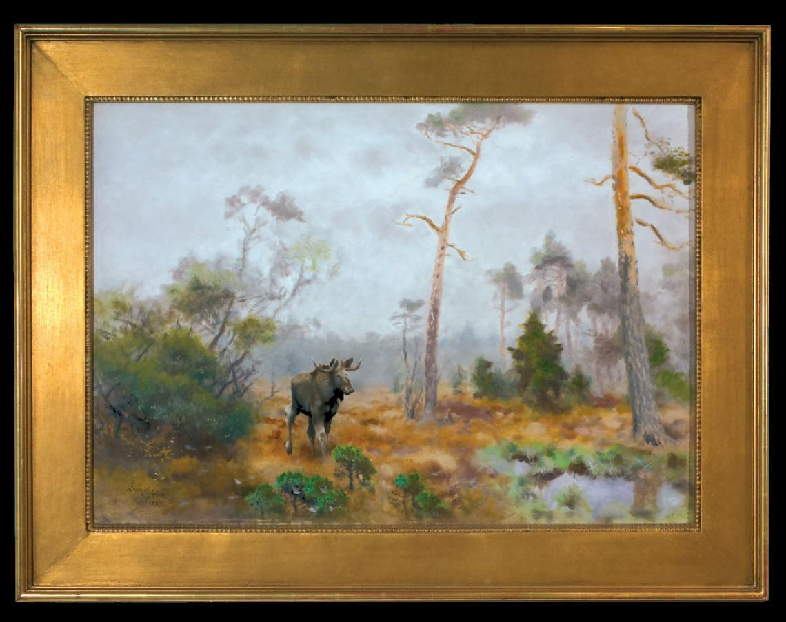 «Høstlandskap med elg», udatert