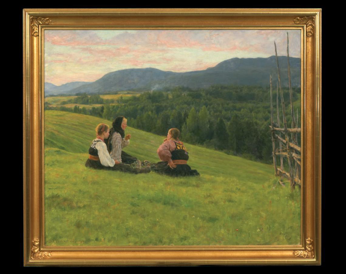 «Aften på Lindem», 1884