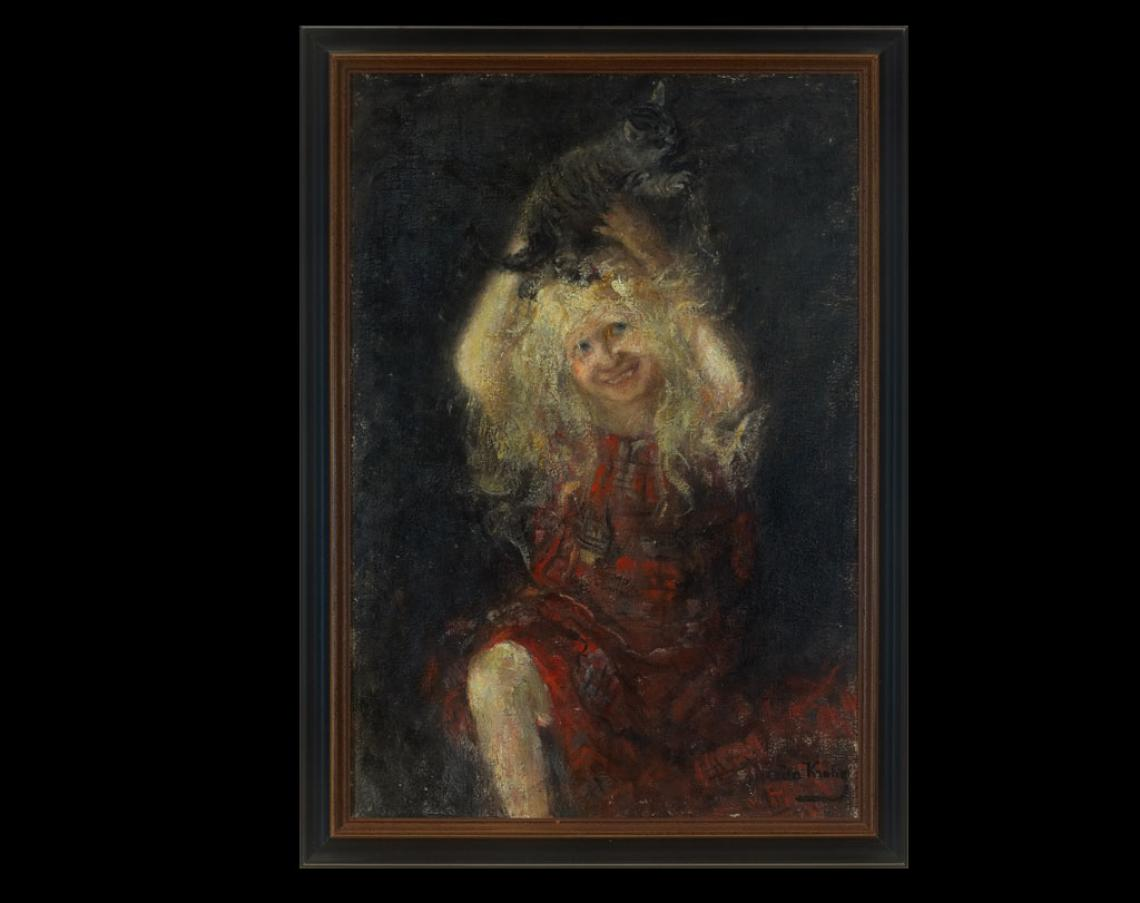 «En pike med katt», 1908